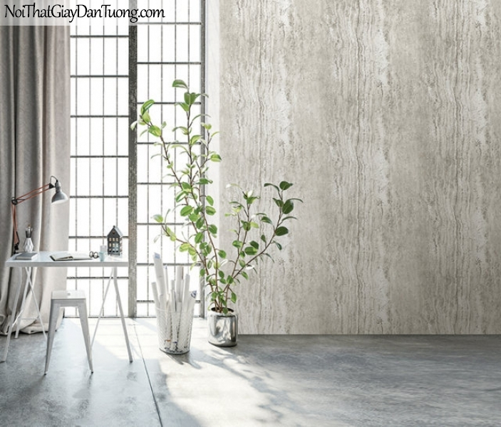3D, Giấy dán tường giả đá, giả đá màu trắng 3D H6047-1 g pc, giấy dán tường nền trắng có vân phối cảnh