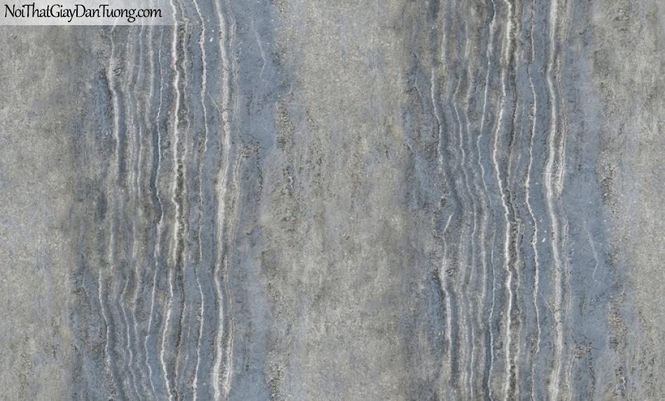 3D, Giấy dán tường giả đá, giả đá màu trắng 3D H6047-2 g, giấy dán tường nền xanh có vân