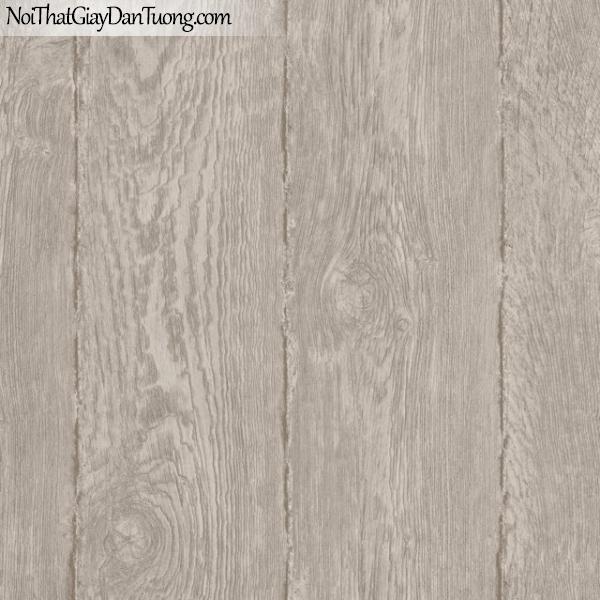 Giấy dán tường giả gỗ, bản gỗ, màu nâu xám M7024-2 g