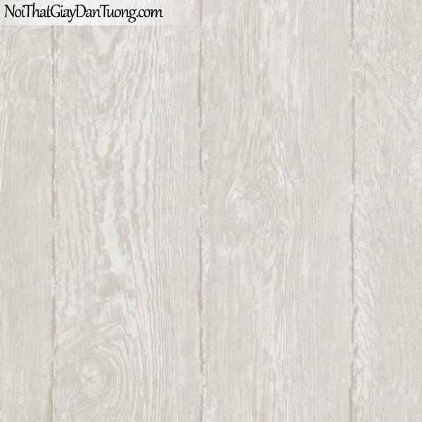 Giấy dán tường giả gỗ, bản gỗ, màu trắng xám M7024-1 g