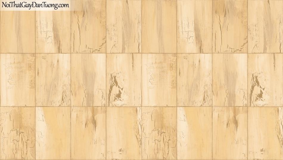 Giấy dán tường giả gỗ, những miếng gỗ nhỏ xếp cạnh nhau, màu vàng 85067-4 g