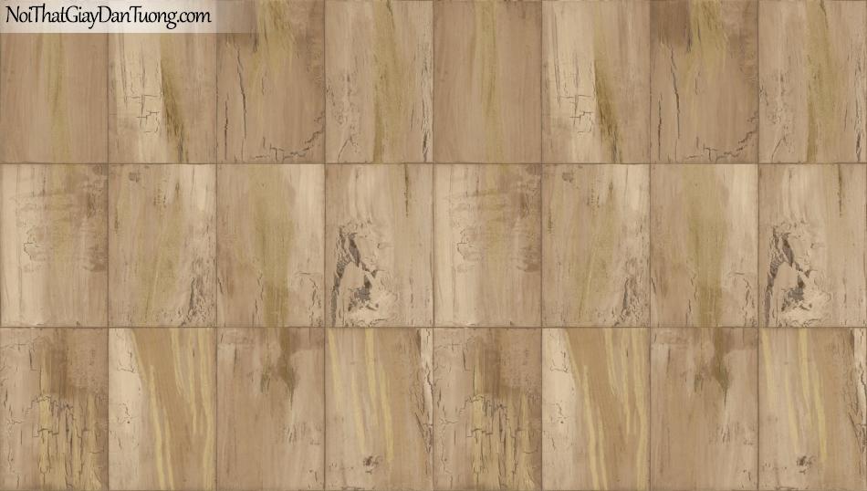 Giấy dán tường giả gỗ, những miếng gỗ nhỏ xếp cạnh nhau, màu vàng 85067-6 g