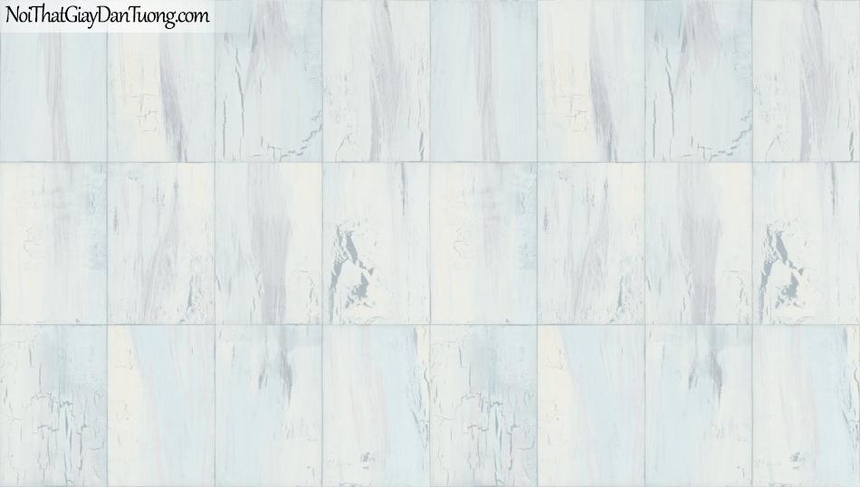Giấy dán tường giả gỗ, những miếng gỗ nhỏ xếp cạnh nhau, màu xanh nhạt 85067-2 g