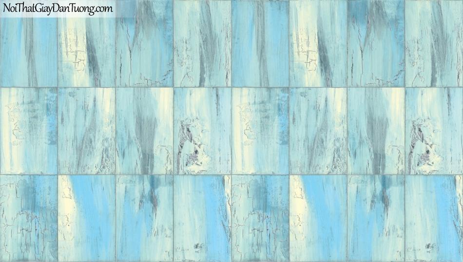 Giấy dán tường giả gỗ, những miếng gỗ nhỏ xếp cạnh nhau, màu xanh nhạt 85067-5 g