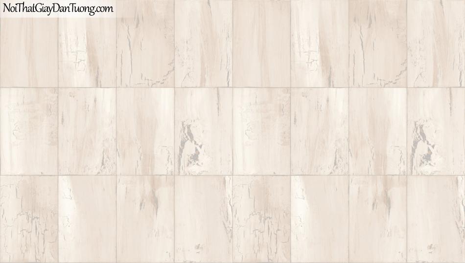 Giấy dán tường giả gỗ, những miếng gỗ xếp cạnh nhau, màu vàng kem 85067-1 g