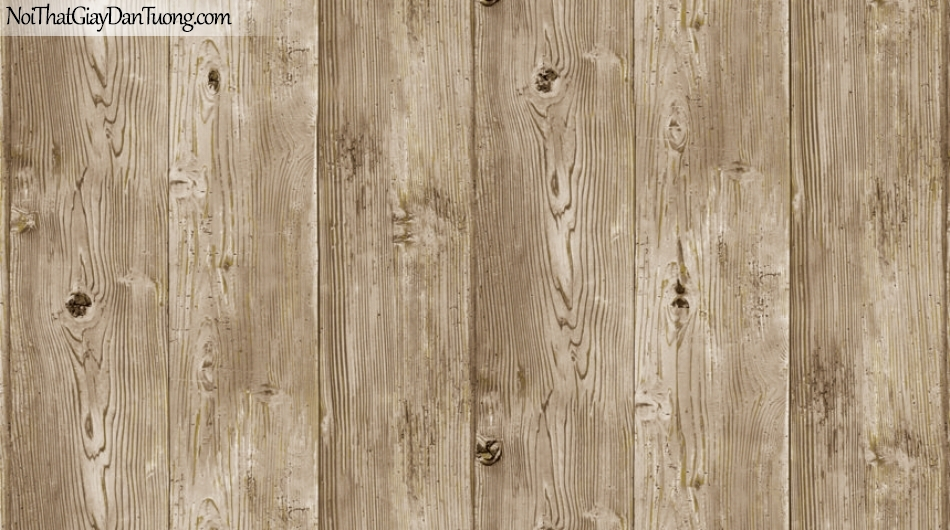 Giấy dán tường giả gỗ, những thanh gỗ lớn xếp cạnh nhau, màu vàng 87005-2 g
