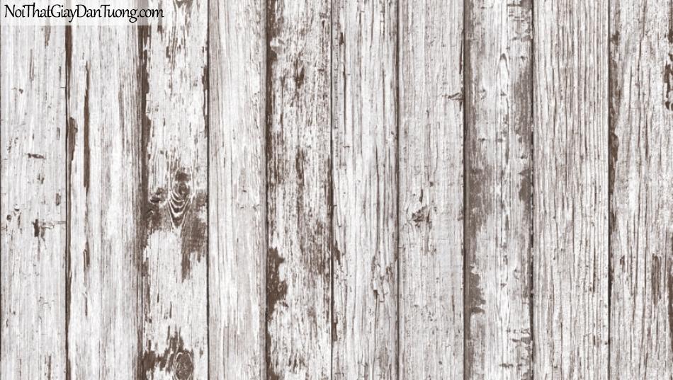 Giấy dán tường giả gỗ, những thanh gỗ nhỏ xếp cạnh nhau, màu nâu xám 87022-1 g