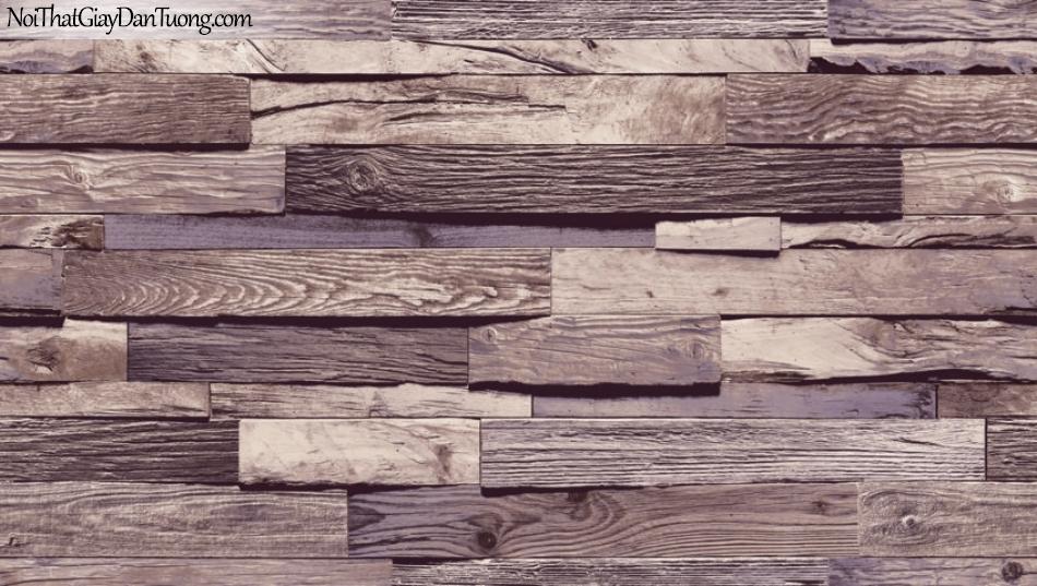 Giấy dán tường giả gỗ, những thanh gỗ nhỏ xếp chồng cạnh nhau, màu tím 87035-3 g