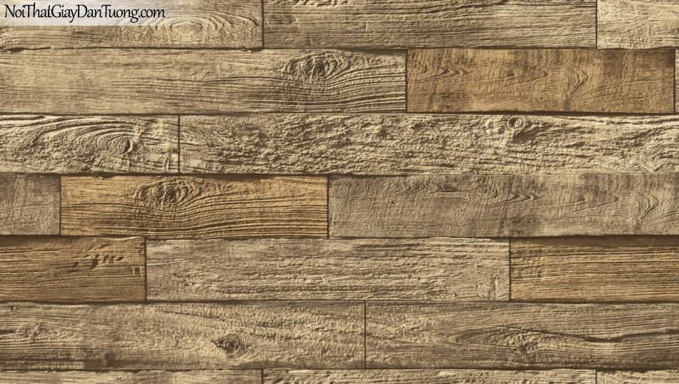 Giấy dán tường giả gỗ, những thanh gỗ nhỏ xếp chồng ngang nhau, màu vàng 85069-1 g