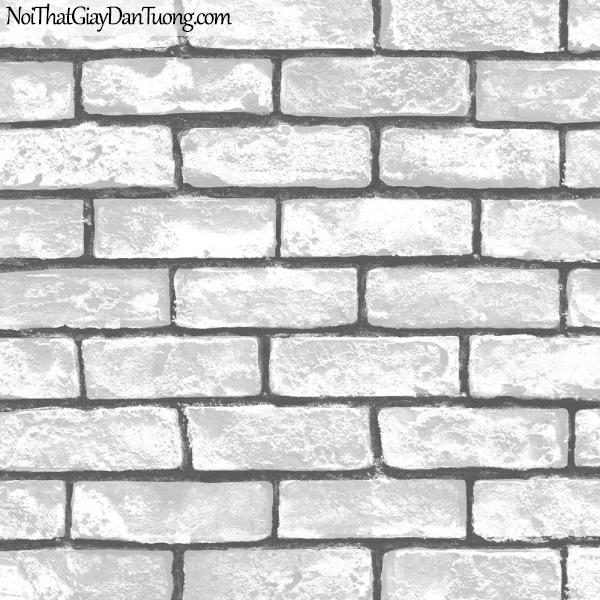 Giấy dán tường giả gạch 3D, giấy dán tường gạch màu trắng, gạch trắng 2575-1 g