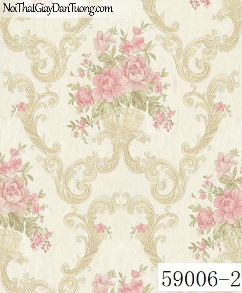 Giấy dán tường RABIA II 59006-2, giấy dán tường bông hoa đẹp, trang trí cho phòng ngủ