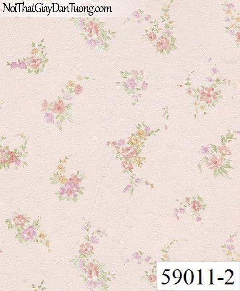Giấy dán tường RABIA II 59011-2, giấy dán tường hoa rơi màu hồng, hoa bay