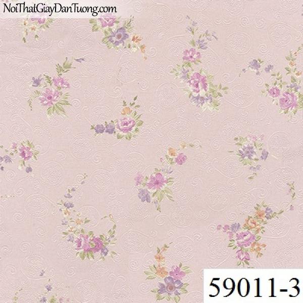 Giấy dán tường RABIA II 59011-3, giấy dán tường bông hoa màu hồn, những cánh hoa rơi rớt