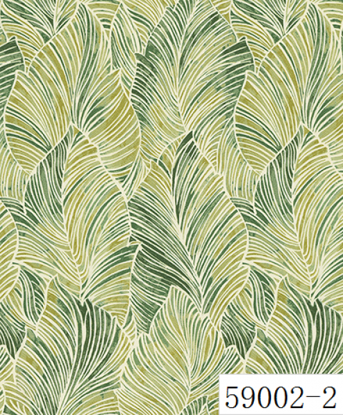RABIA II, Giấy dán tường 59002-2, giấy dán tường màu vàng, màu xanh, xanh nõn chối, hoa văn xanh lá cây, xanh ngọc