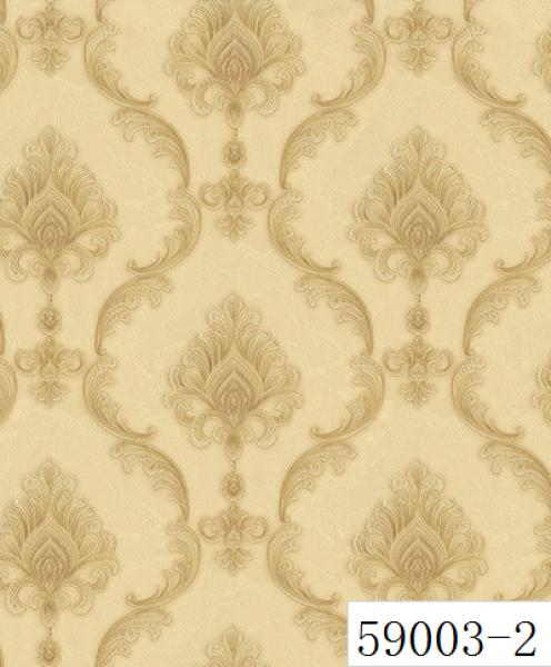 RABIA II, Giấy dán tường 59003-2, giấy dán tường màu vàng cổ điển Châu Âu