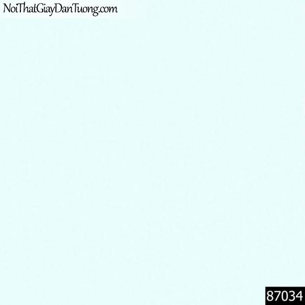LAKIA, Giấy dán tường LAKIA 87034, Giấy dán tường màu xanh nước biển, giấy trơn, mịn, sang trọng