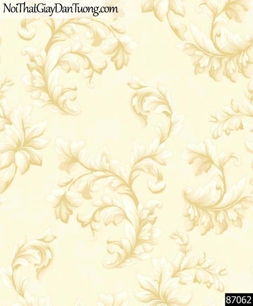LAKIA, Giấy dán tường LAKIA 87062, Giấy dán tường nền vàng sữa, hoa văn cổ điển, giấy trơn, mịn, bán giấy dán tường ở quận 10