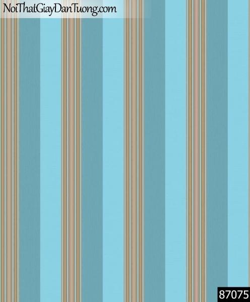 LAKIA, Giấy dán tường LAKIA 87075, Giấy dán tường nền xanh nước biển, sọc đứng nhỏ, bán giấy dán tường ở quận 12