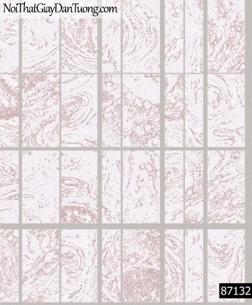 LAKIA, Giấy dán tường LAKIA 87132, Giấy dán tường màu tím xám, sọc ca rô vuông