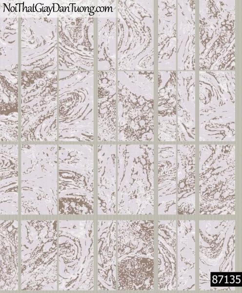 LAKIA, Giấy dán tường LAKIA 87135, Giấy dán tường màu tím xám, ca rô kẻ lớn, ô vuông