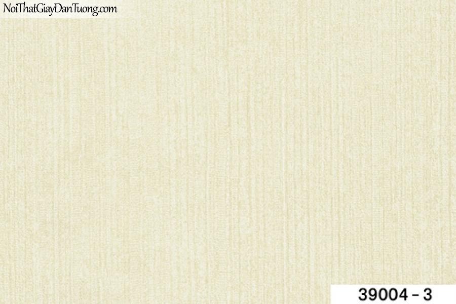 TITAN, Giấy dán tường TITAN 39004-3, Giấy dán tường trơn, mịn, màu vàng kem, gân nhỏ đứng li ti