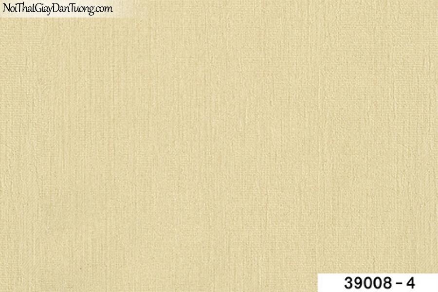 TITAN, Giấy dán tường TITAN 39008-4, Giấy dán tường trơn, mịn, màu vàng kem, phù hợp với nhà hàng, cafe, trường học