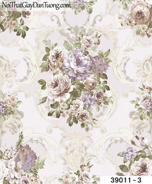 TITAN, Giấy dán tường TITAN 39011-3, Giấy dán tường cành hoa, lá, đẹp, sang trọng, hiện đại