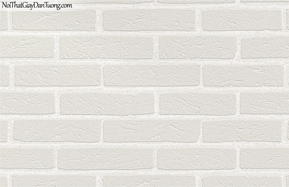 Giấy dán tường giả gạch 3D, giấy dán tường gạch màu trắng, gạch trắng 7911-1 g