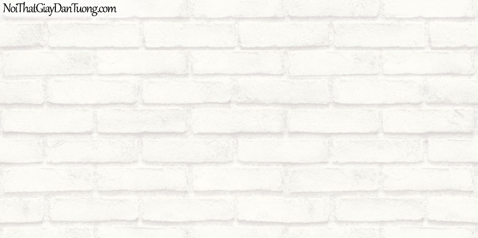 Giấy dán tường giả gạch 3D, giấy dán tường gạch màu trắng, gạch trắng 70003-1 g