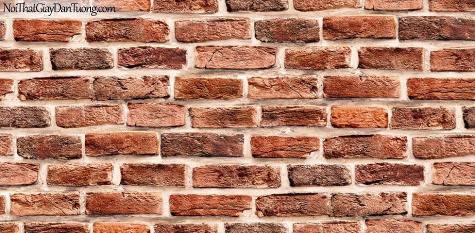 Giấy dán tường giả gạch 3D, giấy dán tường gạch màu trắng đỏ, gạch trắng đỏ H6033-2 g 1
