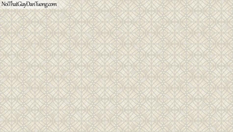 BOS 2018, Giấy dán tường Hàn Quốc 81105-1, giấy dán tường nền hồng, hoa văn cổ điển, sọc, màu nâu xám