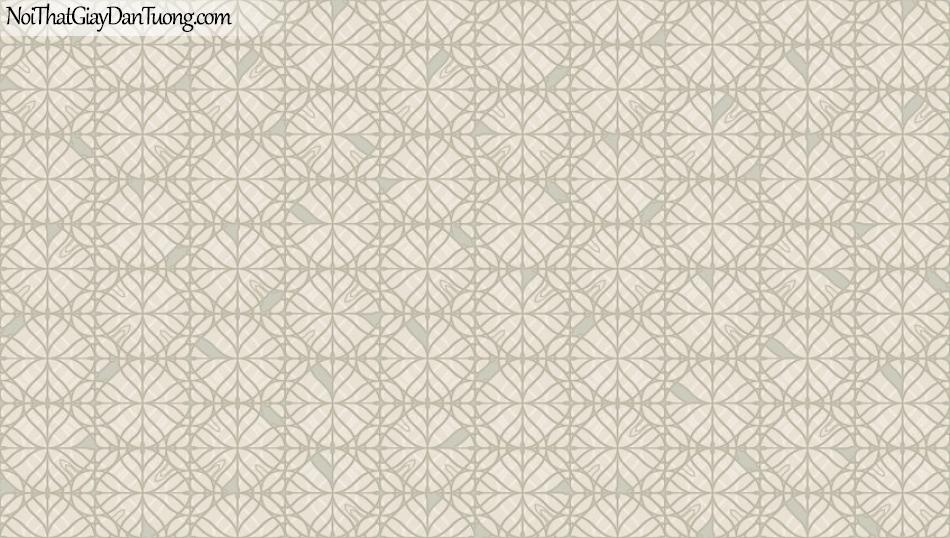 BOS 2018, Giấy dán tường Hàn Quốc 81105-2, giấy dán tường nền hồng, màu nâu xám, hoa văn cổ điển, sang trọng, hiện đại