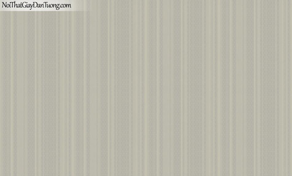 BOS 2018, Giấy dán tường Hàn Quốc 81106-7, giấy dán tường trơn, sọc đứng, màu nâu xám
