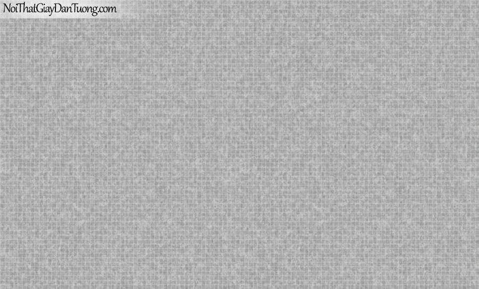 BOS 2018, Giấy dán tường Hàn Quốc 81112-4, giấy dán tường sọc kẻ vuông, ca rô nhỏ, màu xám khói
