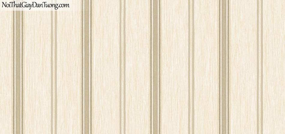 BOS 2018, Giấy dán tường Hàn Quốc 81119-2, giấy dán tường sọc kẻ đứng, màu vàng kem