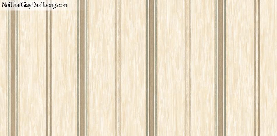 BOS 2018, Giấy dán tường Hàn Quốc 81119-3, giấy dán tường sọc kẻ đứng, màu cam hồng