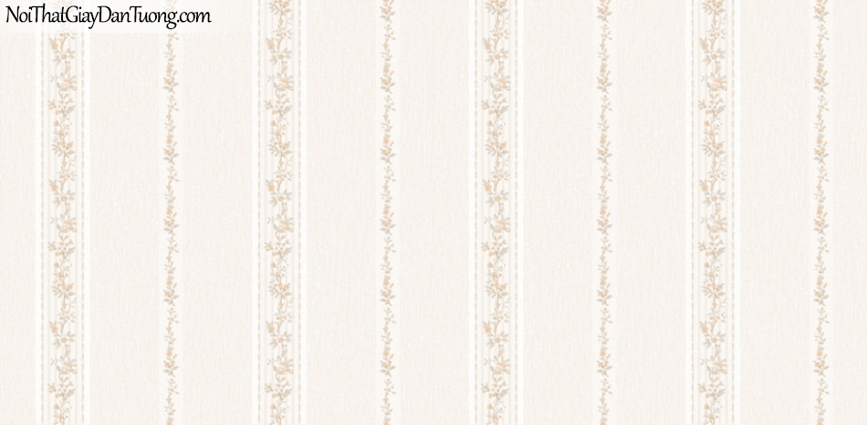 BOS 2018, Giấy dán tường Hàn Quốc 81122-1, giấy dán tường nền hồng, sọc đứng hoa, lá cây