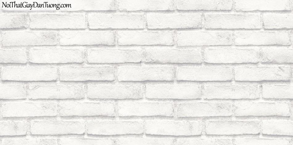 ELYSIA 2018, Giấy dán tường Hàn Quốc 70003-2, giấy dán tường giả gạch, kẻ vuông, màu nâu xám