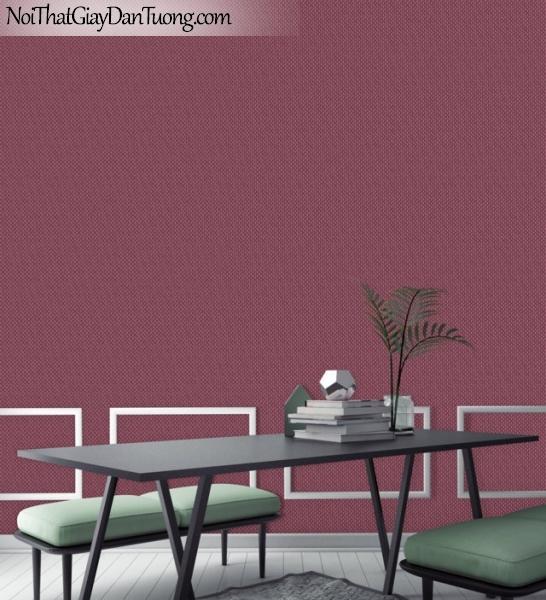 ELYSIA 2018, Giấy dán tường Hàn Quốc 70018-4 PC, giấy dán tường gân nhỏ li ti, chấm bi, màu tím hồng, phối cảnh