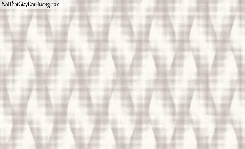 ELYSIA 2018, Giấy dán tường Hàn Quốc 70019-1, giấy dán tường chấm bi, sọc gân, họa tiết, màu trắng xám