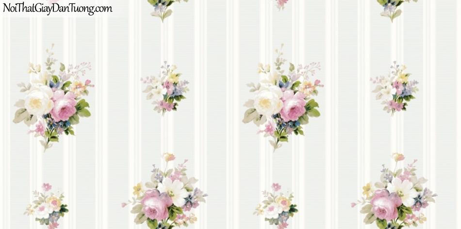 ELYSIA 2018, Giấy dán tường Hàn Quốc 70022-2, giấy dán tường sọc đứng, gân nhỏ, hoa văn, nền trắng sữa