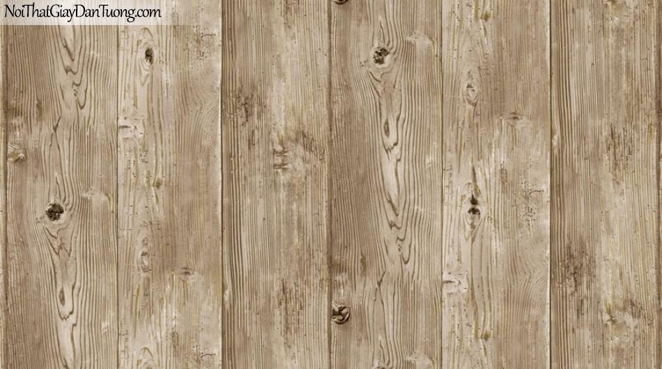 Giấy dán tường Natural Hàn Quốc 87005-2, giả gạch, giả đá, giả gỗ 3D, giấy dán tường giả gỗ vàng xám
