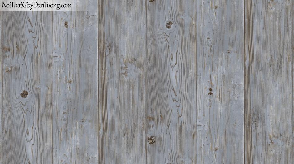 Giấy dán tường Natural Hàn Quốc 87005-3, giả gạch, giả đá, giả gỗ 3D, giấy dán tường giả gỗ xanh Jeans