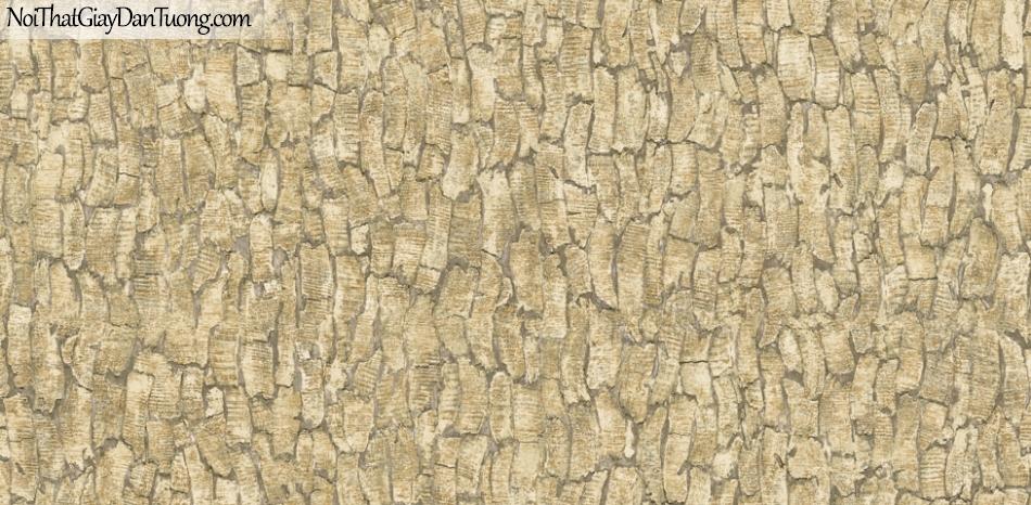 Giấy dán tường Natural Hàn Quốc 87021-1, giả gạch, giả đá, giả gỗ 3D, giấy dán tường giả gỗ, màu vàng cát