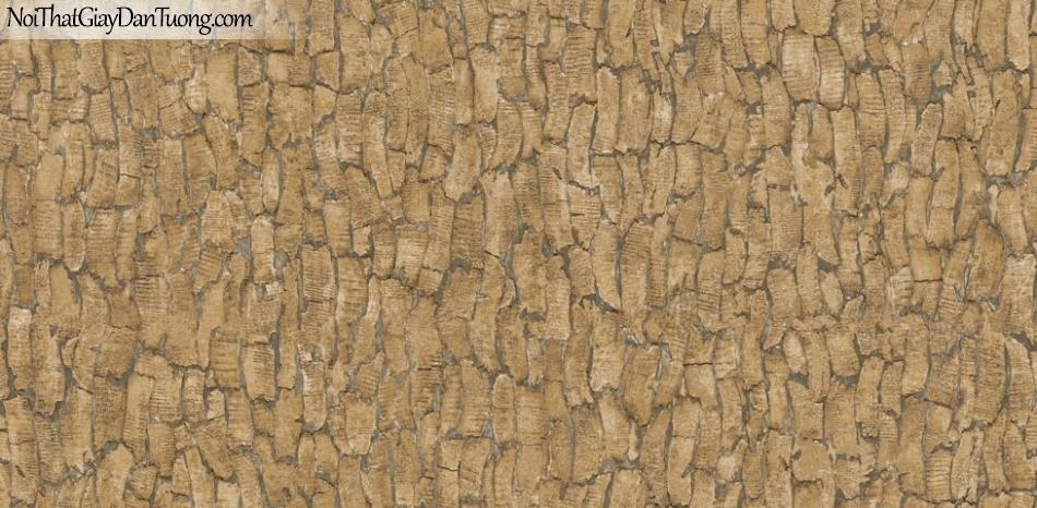 Giấy dán tường Natural Hàn Quốc 87021-2, giả gạch, giả đá, giả gỗ 3D, giấy dán tường giả gỗ, màu nâu xám