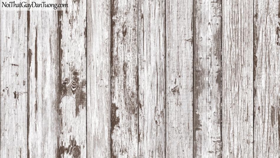 Giấy dán tường Natural Hàn Quốc 87022-1, giả gạch, giả đá, giả gỗ 3D, giấy dán tường giả gỗ, màu trắng xám