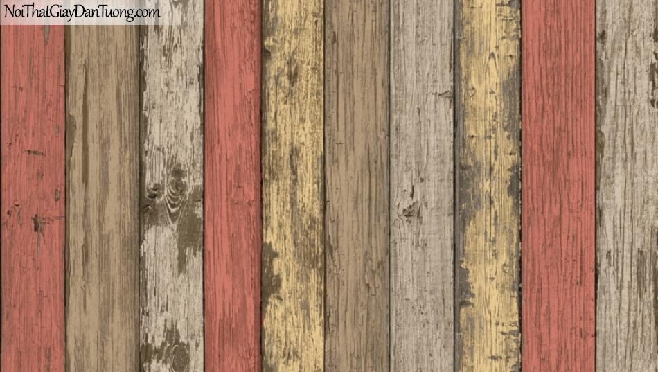 Giấy dán tường Natural Hàn Quốc 87022-3, giả gạch, giả đá, giả gỗ 3D, giấy dán tường giả gỗ, màu vàng cam