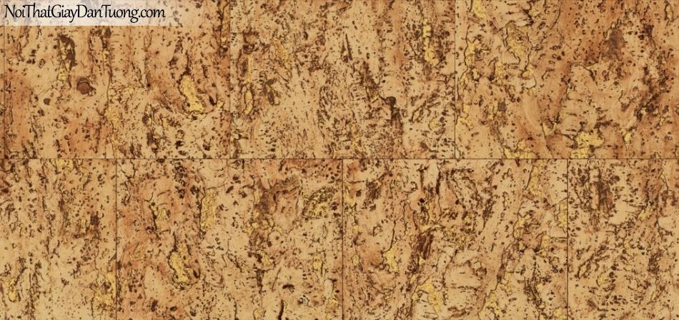 Giấy dán tường Natural Hàn Quốc 87026-2, giả gạch, giả đá, giả gỗ 3D, giấy dán tường giả gạch, màu vàng loang