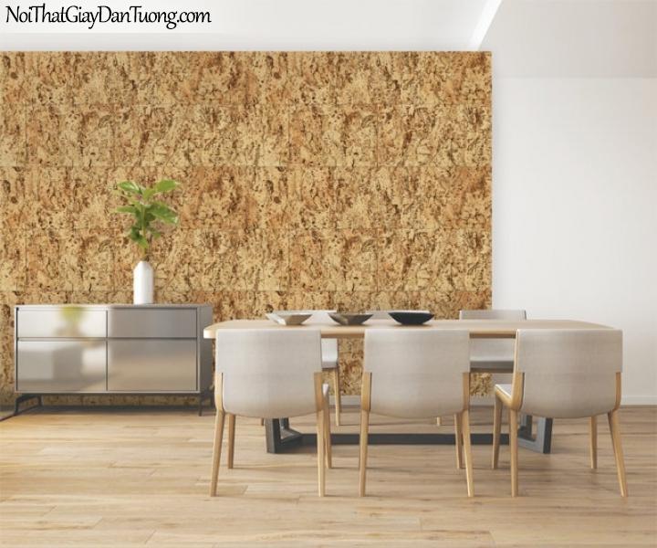 Giấy dán tường Natural Hàn Quốc 87026-2 PC, giả gạch, giả đá, giả gỗ 3D, giấy dán tường giả gạch, màu vàng loang, phối cảnh