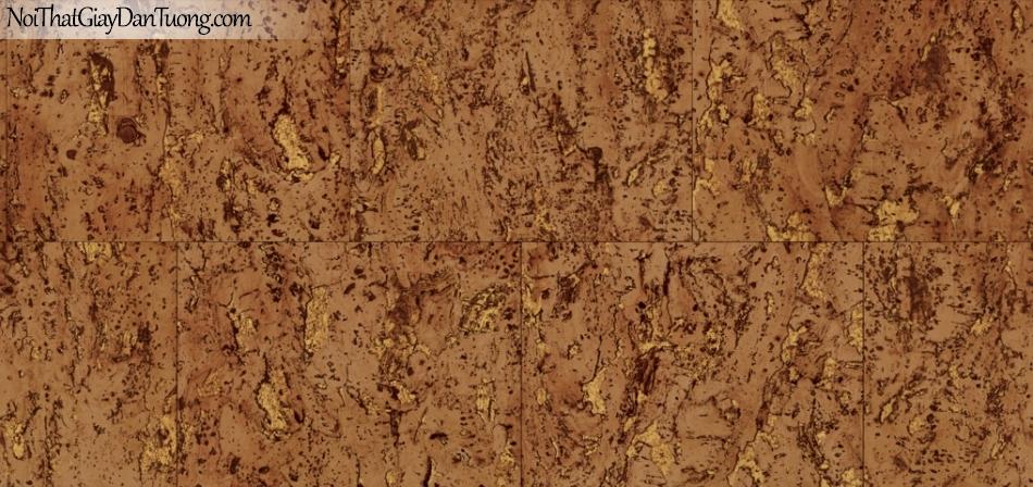 Giấy dán tường Natural Hàn Quốc 87026-3, giả gạch, giả đá, giả gỗ 3D, giấy dán tường giả gạch, màu vàng loang